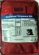 Elite First Aid Gunshot Trauma Kit 8 X 6 X 3.5 25 Essential Items Plu Red Bag