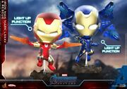 Hot Toys Cosb650 Iron Man Mk85 And Rescue Cosbaby S Bobble-head Figure Set