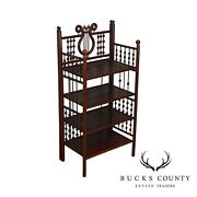 Antique Victorian Stick And Ball 4 Tier Etagere Bookcase Stand