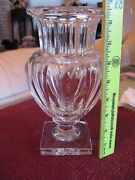 Baccarat Harcourt Musuem Marie Louise Crystal Vase Stark Mint In Box