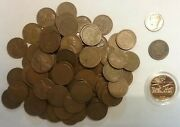 100 Unsearched Wheat Pennies, , One Indian Head Penny, One Bonus Coin
