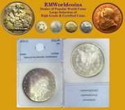 1878 Cc Morgan Dollar, Rare Date, Superb Gem, Toning, Proof-like Luster Devices.