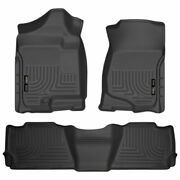 Weatherbeater 1stand2ndrow Floormat Blk For Avalanch/escalade/suburban/yukon 07-14