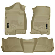 Weatherbeater 1stand2ndrow Floormat Tan For Avalanch/escalade/suburban/yukon 07-14