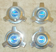 1965 1966 Ford Mustang Fairlane Galaxie Orig Wire Wheel Cover Emblem Spinners