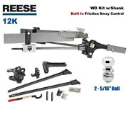 12k Reese Sc Trunnion Weight Distribution Hitch And Built In Sway W 2 5/16 66155