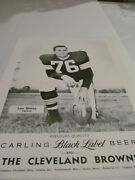 1950and039s Cleveand Browns Carlings Black Label Photographs - Lou Groza