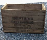 Antique Heinekens Brewery Wooden Beer Crate Austin Nichols And Co. Brooklyn Ny
