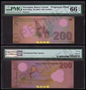 Nicaragua 200 Cordobas 2007 Proof Note Without Window Polymer Pmg66