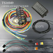 12-14 Circuit Universal Wiring Harness Muscle Car Hot Rod Street Wires New
