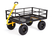 Gorilla Carts Heavy-duty Steel Utility Cart Removable Sides 1400 Lb Capacity