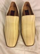 Giorgio Brutini Private Collection Fabric/leather Mens Loafers Free Shipping