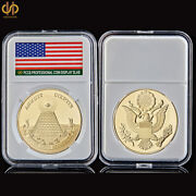 American National Emblem Great Seal Of Usa Gold Coin Collections W/ Pccb Holder