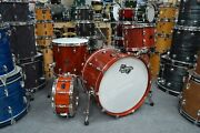 Doc Sweeney Drums Dsd Stave Drums Series Padauk 12162214sd Hand Rubbed Oil Fi