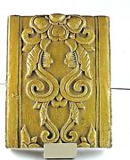 Temple Tile Yellow Gold Glazed Large Custom Display Holder 19th Century Chinese