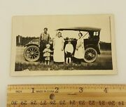 Vintage Photograph Bandw C1920 Touring Car Family Girl Boy Model T Ford Chevy