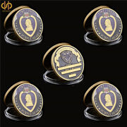 5pcs 1782-1932 Usa Military Merit Awarded Purple Heart Gold Challenge Coins