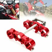 Red Front Forks Lower Upper Triple Trees Stem Clamp For Honda Crf250l Rally 2018