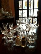 Waterford Lismore Crystal Vase, Sherry, Sugar And Creamer, Candle Holder Choice