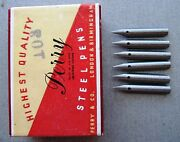 6 Vintage Old/new Perry Manifold Pen Nibs 103 - Calligraphy+magna Drawing Etc.