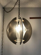 Mid Century Pendant Light Lucite Chandelier String Paul Secon Sompex Hollywood
