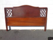 Antique Headboard Bed Victorian Mahogany French Provincial Neoclassical Shabby