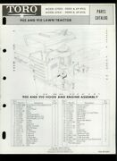 Toro 905/910 Lawn Tractor Lawn Mower Model 57002 57051 Illustrated Parts List
