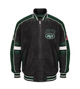 Nfl New York Jets Officially Licensed Suede Varsity Jacket Xl