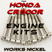 Engine Bolt Kit For Honda Cr 500r   Works Nickel Ti Look Without The Ti Price