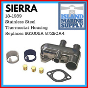 Mercruiser Stainless Steel Thermostat Housing 18-1989 Replaces 861006a 87290a4
