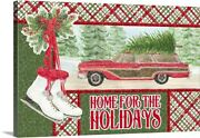 Sleigh Bells Ring - Home For The Canvas Wall Art Print, Christmas Home Decor