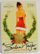 Sandra Taylor 1/1 Auto Dec 25th Holiday Past And Presents Bench Warmer 2015
