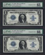 1923 1 Sc Fr-237andfr-238 ♚♚change-over Pair♚♚ Pmg Gem Unc 65/66 Great Embossing