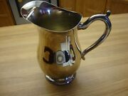 Antique Marlboro Silver Plate By Norton-parker Water Pitcher With Ice Catcher