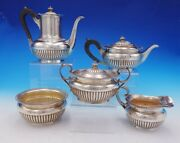 Dominick And Haff Sterling Silver Tea Set 5pc With Wood 134 Circa 1884 3575