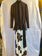 Rare Norman Norell Wool Jersey Tunic And Sequined Skirt