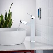 Single Handle Singlehole Bathroom Sink Faucet Hot And Cold Faucet White And Chrome