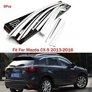Chrome Side Door Molding Trim Wind Rain Deflector Sun Visor Guard For Mazda Cx-5