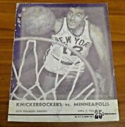 Very Rare 1952-53 Minneapolis Lakers Team Signed Nba Finals Program Signed By 11