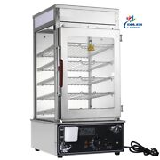 New Commercial Electric Steam Warmer Cabinet 5 Shelf Buffet Table Top Display