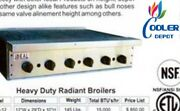 New Ideal 30 X 29 Heavy Duty Stainless Steel Commercial Broiler Made In Usa