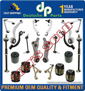 Upper + Lower Front + Rear Control Arms Ball Joints Tie Rods For Jaguar S Type