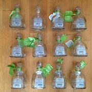 Lot Of 12 Patron Silver Tequila De Agave Empty Bottles Corks 375 Ml Arts Crafts