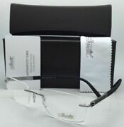 Silhouette Eyeglasses Carbon Intarsia 5402 60 6052 23k Gold Plated Grey And Black