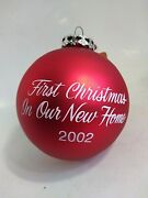 Bronners Christmas Ornament First Christmas New Home 2002 Frankenmuth Mich Nib