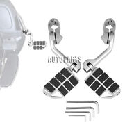 News 1-1/4 Highway Foot Pegs Pedals Mount Clamps For Harley Touring Motorcycle