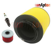 Air Oil Filter And Spark Plug For Honda Trx450 Foreman 1998-2004 Tune Up Kit