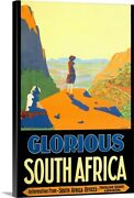Glorious South Africa, Vintage Poster, Canvas Wall Art Print, Africa Home Decor