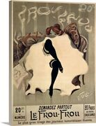 Le Frou Frou, Vintage Poster, By Lucien Canvas Wall Art Print, Fashion Home