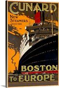 Cunard Line New Steamers Boston To Canvas Wall Art Print Ships And Boats Home